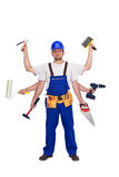 Heimwerker oder Arbeitskraft - Alleskönner Stockfoto