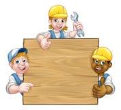 Heimwerker Workers Background Sign Stockbild