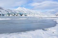 Heinabergsjokull Glacial Lagoon Stock Photos