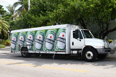 Heineken beer delivery truck Royalty Free Stock Photography