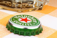 Heineken beer metal cap Royalty Free Stock Image