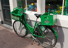 Heineken bicycle Royalty Free Stock Images