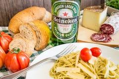 Heineken bottle beer Stock Image