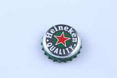 Heineken bottle cap Royalty Free Stock Photo