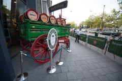 Heineken brewery. SEPTEMBER, 2014: Brewery inside Heineken Experience Museum stock images