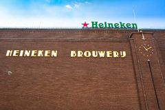 Heineken Brewery Headquarters in Amsterdam. stock photography