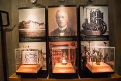 Heineken brewery. SEPTEMBER, 2014: Brewery inside Heineken Experience Museum royalty free stock photography