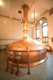 Heineken brewery. SEPTEMBER, 2014: Brewery inside Heineken Experience Museum royalty free stock images