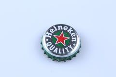 Heineken butelki nakrętka Zdjęcie Royalty Free