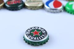 Heineken butelki nakrętka Zdjęcia Royalty Free