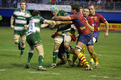 Heineken Cup rugby match USAP vs Leicester Stock Images