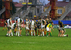 Heineken Cup rugby match USAP vs London Irish Stock Image