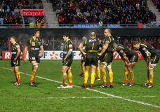 Heineken Cup rugby match USAP vs London Irish Royalty Free Stock Photos