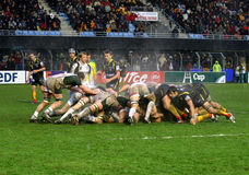 Heineken Cup rugby match USAP vs London Irish Stock Photo
