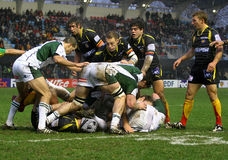 Heineken Cup rugby match USAP vs London Irish Royalty Free Stock Images
