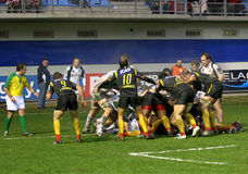 Heineken Cup rugby match USAP vs London Irish Royalty Free Stock Photo