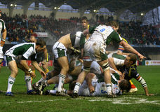 Heineken Cup rugby match USAP vs London Irish Royalty Free Stock Photo