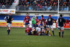 Heineken Cup rugby match USAP vs Munster Royalty Free Stock Image