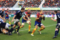 Heineken Cup rugby match USAP vs Munster Royalty Free Stock Photos