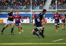 Heineken Cup rugby match USAP vs Munster Stock Photography