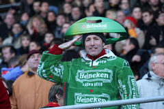 Heineken Cup rugby match USAP vs Munster Stock Images