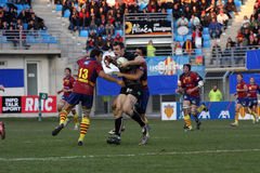 Heineken Cup rugby match USAP vs Ospreys Stock Images