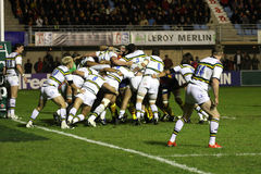 Heineken Cup rugby match USAP vs Saints Stock Images
