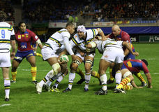 Heineken Cup rugby match USAP vs Saints Stock Photos