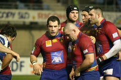 Heineken Cup rugby match USAP vs Tr Stock Images