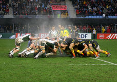 Heineken-Cuprugbyabgleichung USAP gegen London-Iren Stockbilder