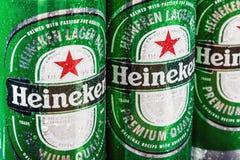 Heineken Lager Beer è il prodotto di nave ammiraglia di Heineken fotografia stock