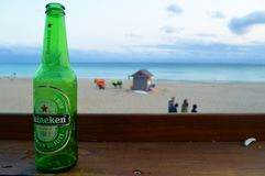 Heineken on the beach stock image