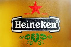 Heineken piwo Zdjęcie Royalty Free
