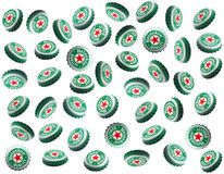 Heineken-Schutzkappen stockfotos