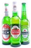 Heineken Stella Artois de la cuba de tintura Fotos de archivo libres de regalías
