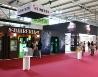 Heineken at Tuttofood Milano World Food Exhibition 2013 Royalty Free Stock Photography