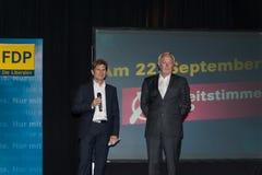 Heiner Garg och Wolfgang Kubicki arkivbild