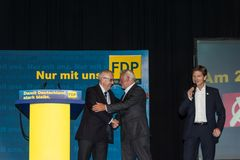 Heiner Garg, Wolfgang Kubicki och Reiner Brüderle royaltyfri bild