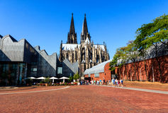 The Heinrich-Boell-Square in Cologne, Germany Royalty Free Stock Image