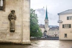 Heinrich Bullinger Statue Zurich Switzerland Royalty Free Stock Photos