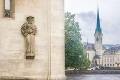 Heinrich Bullinger Statue Zurich Switzerland Stock Photography