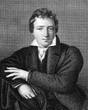 Heinrich Heine. (1797-1856) on engraving from 1859. German poet. Engraved by unknown artist and published in Meyers Konversations-Lexikon, Germany,1859 Royalty Free Stock Photo