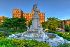Heinrich Heine Fountain - New York City stockfotos