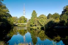 Heinrich Hertz Tower en Hamburgo foto de archivo