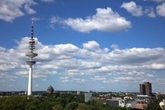 The Heinrich Hertz Tower, the Radio Telecommunication Tower in Hamburg. Germany royalty free stock image