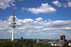 Heinrich Hertz Tower, a torre de r?dio da telecomunica??o em Hamurg germany imagem de stock royalty free