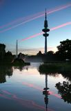 Heinrich-Hertz-Turm and Planten un Blomen park, Hamburg Stock Photo
