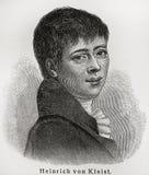 Heinrich Kleist Stock Photo