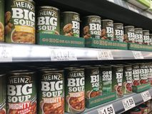 Heinz big soup. On shelves of a supermarket stock image