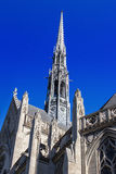 Heinz Chapel Steeple. Gothic Architecture of Pittsburghs Historic and Grandiose Heinz Chapel Facade stock image